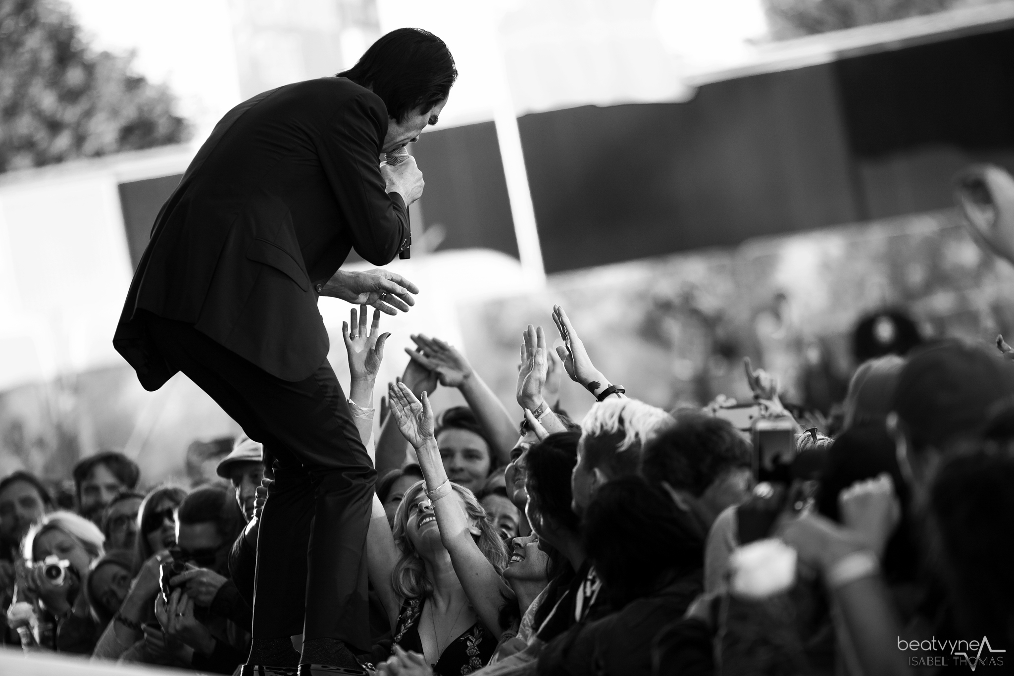 Falling into his arms: Nick Cave
